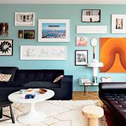 美式简约风格照片墙装饰
