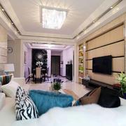 两室一厅电视背景墙装饰