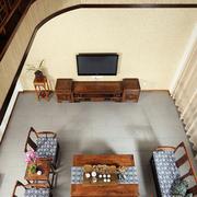 中式风格高挑客厅效果图
