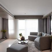 别墅客厅皮制沙发装饰