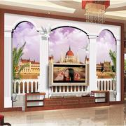 欧式古堡风格电视背景墙