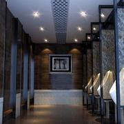 后现代风格深色厕所装饰