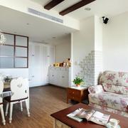现代家装客厅田园风格沙发装饰