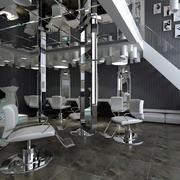 后现代风格灰色系美发店装饰