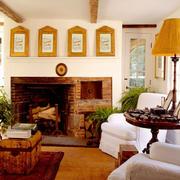 美式简约乡村风格壁炉装饰