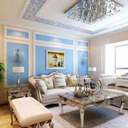 简欧风格奢华客厅沙发装饰