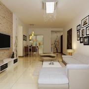 90平米房屋简约客厅照片墙装饰