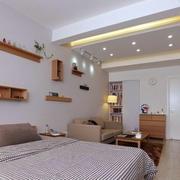 公寓卧室简约置物架设计