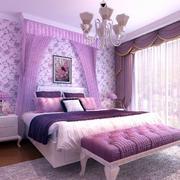 老房紫色系卧室装饰