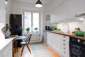 混搭风格一字型厨房装饰