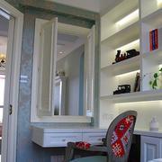 两室一厅书房书架装饰