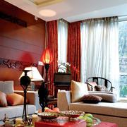 别墅欧式客厅沙发装饰