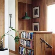 美式简约书柜样板房装饰
