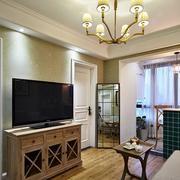 两室一厅原木电视柜装饰