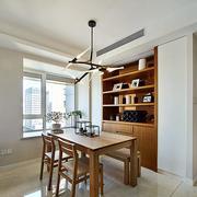 两室一厅简约原木桌椅装饰