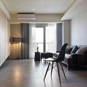 两室一厅客厅简约吊顶设计