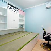 榻榻米房简约整体式置物架