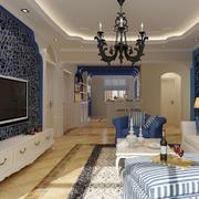 地中海简约客厅灯饰装饰