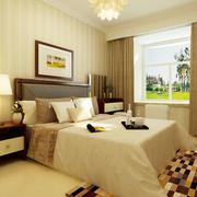 后现代清新风格卧室窗户装饰
