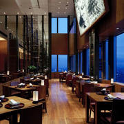 咖啡厅简约风格吊顶装饰