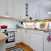 美式简约风格开放式厨房