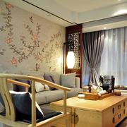 中式家装原木桌椅装饰