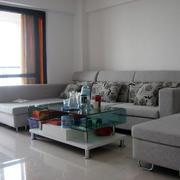 现代简约新房客厅沙发装饰