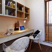 两室一厅简约风格书房书架装饰
