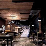 咖啡厅木制吊顶装饰