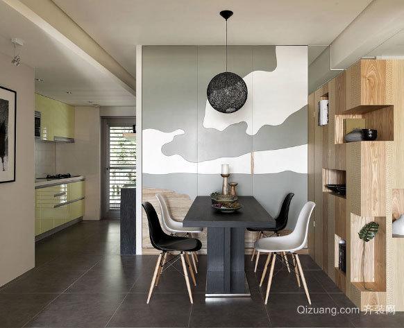创作行为艺术:两室一厅loft风格房屋装修效果图