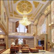 大型别墅奢华电视背景墙