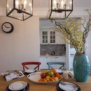 美式阁楼餐厅圆桌装饰