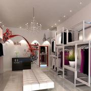 后现代风格服装店简约吊顶射灯装饰