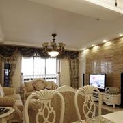 美式样板房客厅灯饰装饰