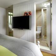 现代家装卧室电视背景墙