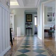 两室一厅玄关地板装饰