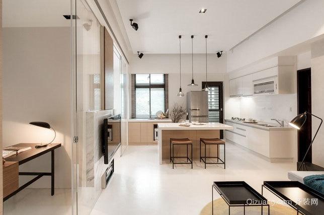 温润淡雅60平米小户型一居室公寓装修效果图