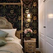 两室一厅欧式风格卧室背景墙装饰