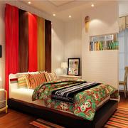 东南亚风格卧室地板装饰