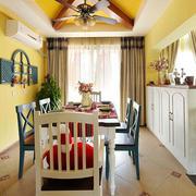 地中海风格餐厅背景墙装饰