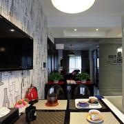 小户型公寓电视背景墙