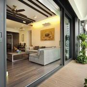大型欧式简约自动室内门装饰