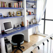 现代简约风格书房原木地板装饰