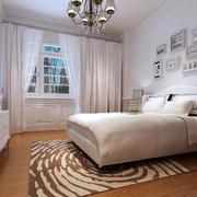 欧式浅白色卧室床头背景墙装饰