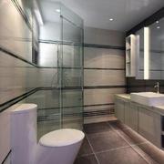 现代简约风格卫生间玻璃隔断