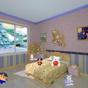 简约风格儿童房床头置物架