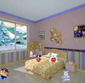 勾勒孩子们的世界:童话般清新的儿童房装修效果图