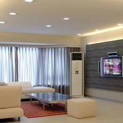 后现代风格家庭客厅吊顶装修