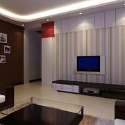 现代风格石膏板电视背景墙