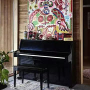 美式简约风格钢琴房装饰样板房
